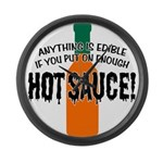 Put on Enough Hot Sauce Large Wall Clock