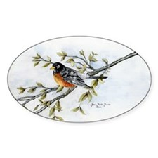 """Robin Bird"" Oval Decal"