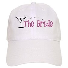 Pink Bride Martini Baseball Cap