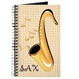 Saxophone Music Instrument Practice Notebook