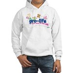 Pro-Life Flowers & Butterfly Hooded Sweatshirt