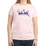Pro-Life Flowers & Butterfly Women's Light T-Shirt