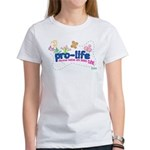 Pro-Life Flowers & Butterfly Women's T-Shirt
