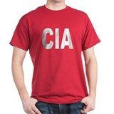 CIA Central Intelligence Agen Black T-Shirt