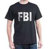 FBI Federal Bureau of Investi Black T-Shirt