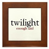 Cute Edward cullen Framed Tile