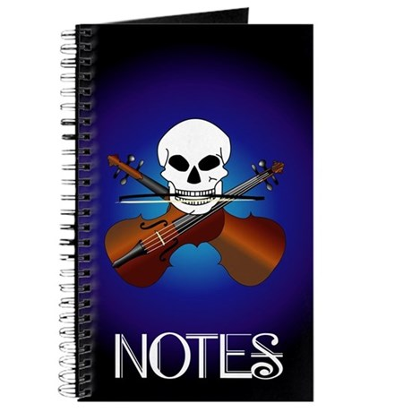 Funny Violin Cross Bones Music Journal
