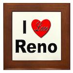 I Love Reno Nevada Framed Tile