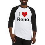 I Love Reno Nevada Baseball Jersey