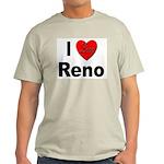 I Love Reno Nevada (Front) Ash Grey T-Shirt