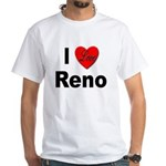 I Love Reno Nevada (Front) White T-Shirt