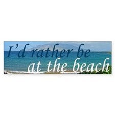 Beautiful Beach Bumper Sticker