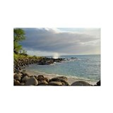 Makena Bay Hawaii Rectangle Magnet