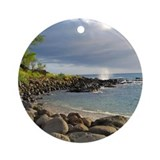 Makena Bay Hawaii Ornament (Round)