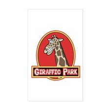 Giraffic Park Rectangle Decal