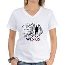 My Hero Wears Angel Wings Shirt
