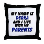 my name is debra and I live with my parents Throw