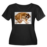 Slow Loris Women's Plus Size Scoop Neck Dark T-Shi