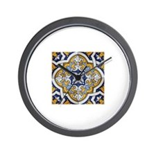 Portuguese Tiles Designs Wall Clock