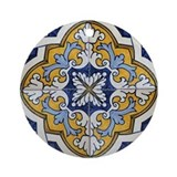 Portuguese Tiles Designs Ornament (Round)