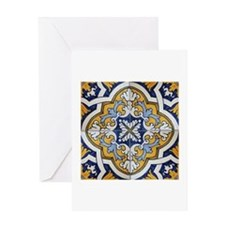 Portuguese Tiles Designs Greeting Card