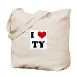 I Love TY Tote Bag