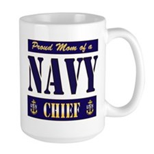 Chief's Mom Block Style Mug