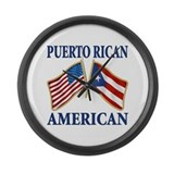 Puerto rican pride Large Wall Clock