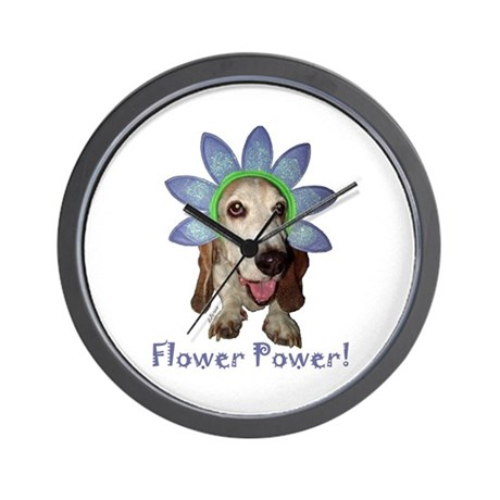 Flower Power Wall Clock