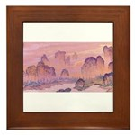 Karst Mountains Framed Tile