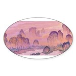 Karst Mountains Oval Sticker