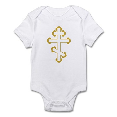 Orthodox Bottony Cross Infant Bodysuit
