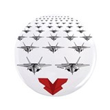 "Funny Paper airplanes red cartoon airplanes 3.5"" Button (100 pack)"