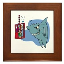 Here Fishy Fishy! Framed Tile