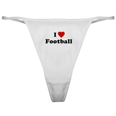 I Love [Heart] Football Classic Thong