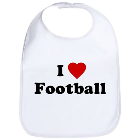 I Love [Heart] Football Bib