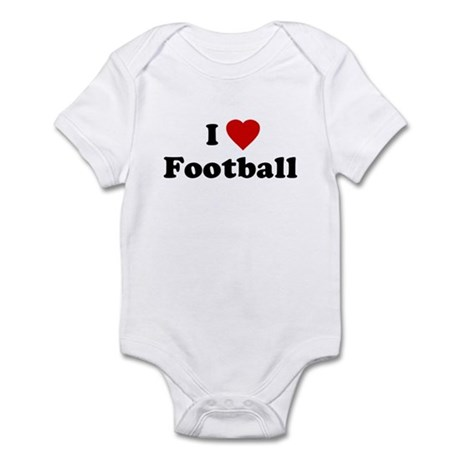 I Love [Heart] Football Infant Creeper