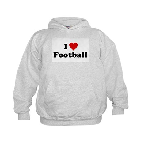 I Love [Heart] Football Kids Hoodie