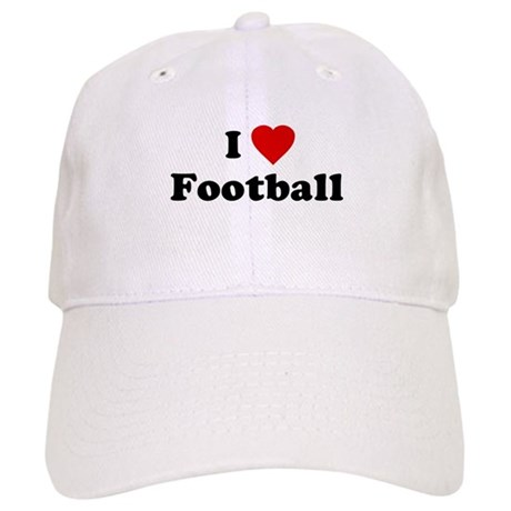 I Love [Heart] Football Cap