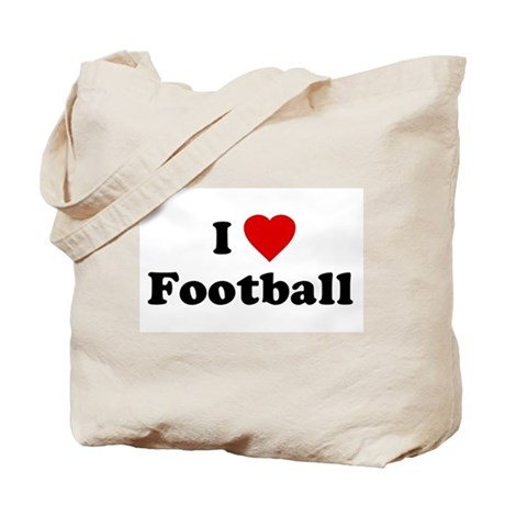I Love [Heart] Football Tote Bag