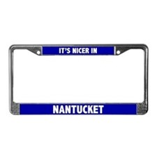 """Nicer in Nantucket"" License Frame"