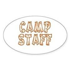 Camp Staff Oval Decal