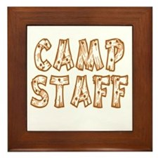 Camp Staff Framed Tile