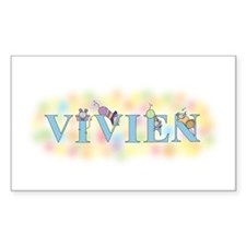 """""""Vivien"""" with Mice Rectangle Decal"""