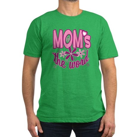 Mom's The Word Men's Fitted T-Shirt (dark)