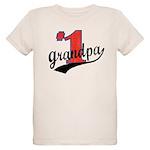 #1 Grandpa Organic Kids T-Shirt