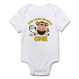 Little Monkey 1st Birthday Boy  Baby Onesie