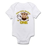 Little Monkey 1st Birthday Boy Infant Bodysuit