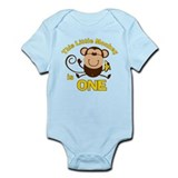 Little Monkey 1st Birthday Boy Onesie