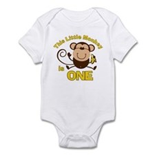 Little Monkey 1st Birthday Boy Onesie